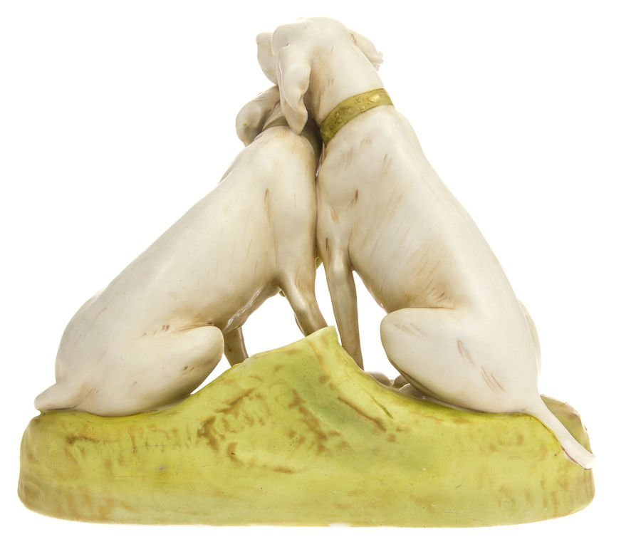 "Porcelain figure ""Hounds"" Royal dux Bohemia - 2"
