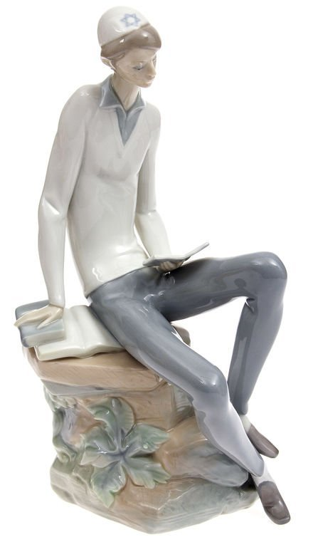 """Porcelain figurine """"The boy with the book"""" Spain"""