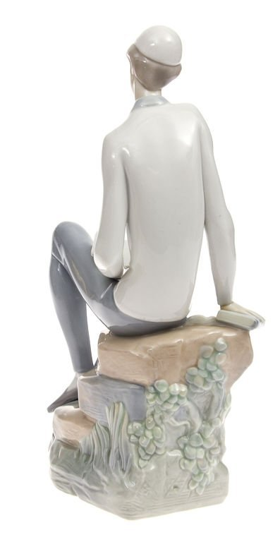 """Porcelain figurine """"The boy with the book"""" Spain - 3"""