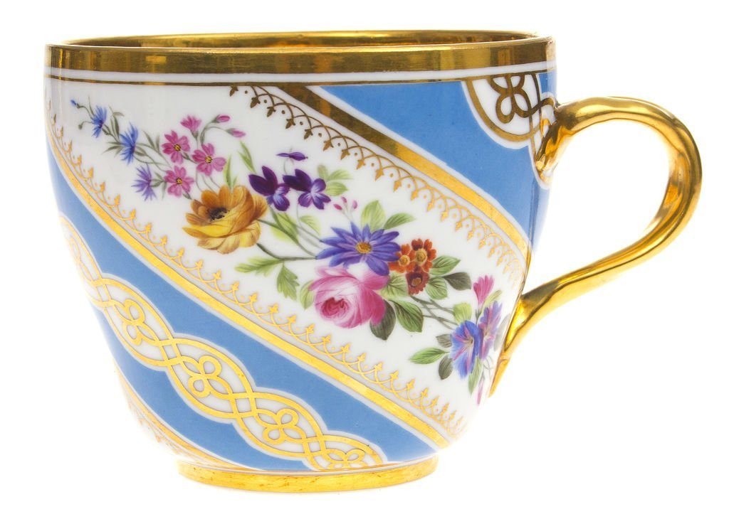 """Porcelain cup """"Flowers"""" Russia IFZ"""