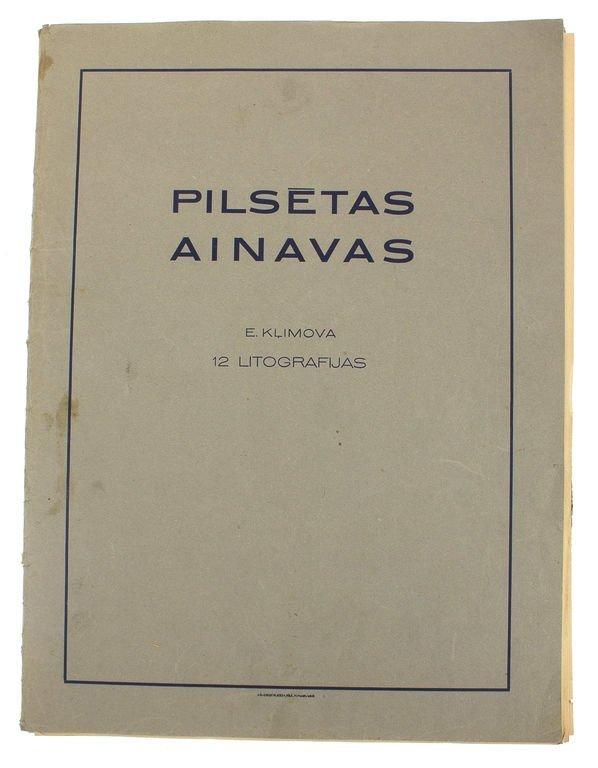 E.Klimova, 12 litographies, Landscapes of cities