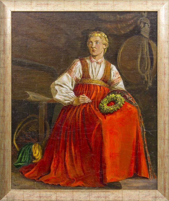 Girl in a folk costume, Elerts Treilons