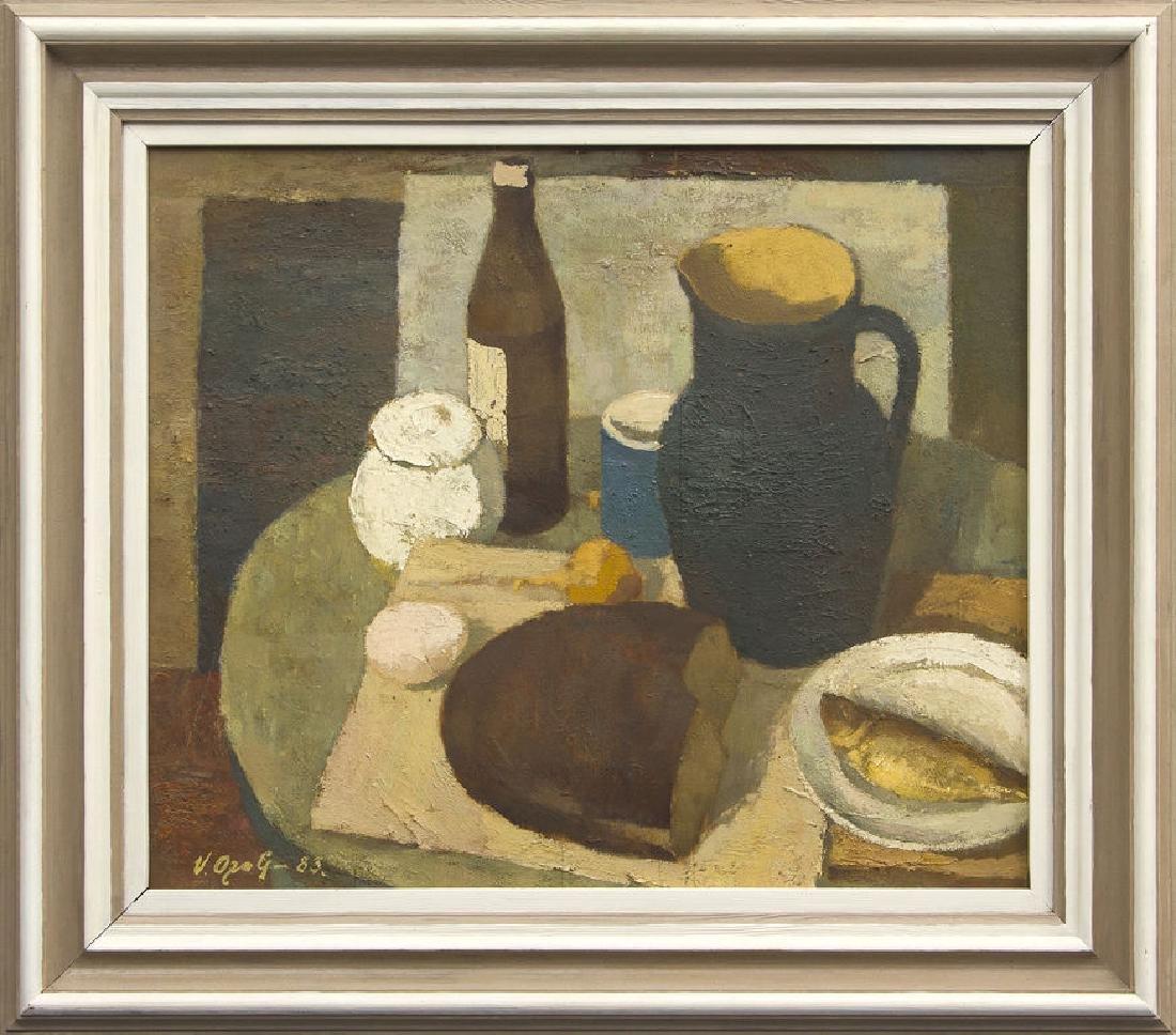 Still life with bread, Vilis Ozols