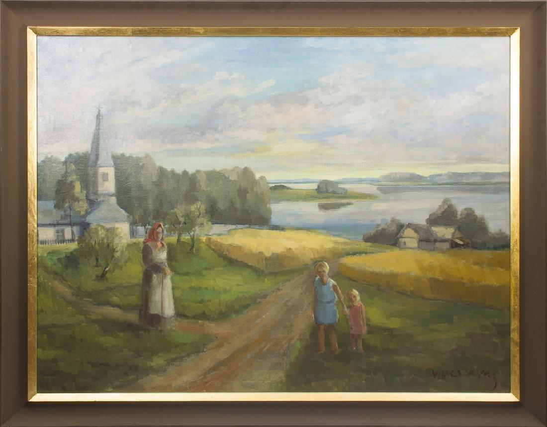 Landscape with church, Francisks Varslavans