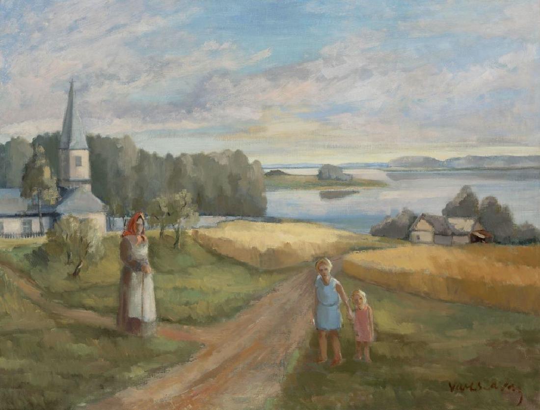 Landscape with church, Francisks Varslavans - 2