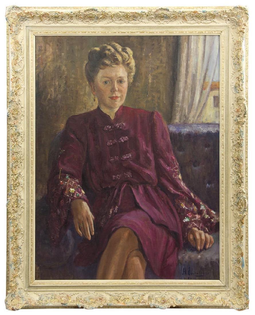 Women portrait, Harijs Hermanis Ebersteins