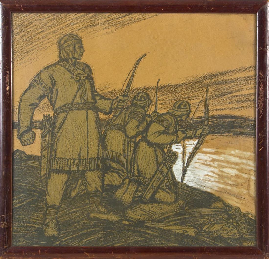 Ancient Latvian soldiers, Vilis Krumins