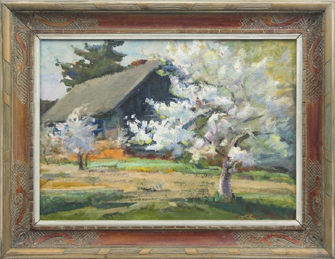 Apple trees in the yard, Aleksandrs Zviedris