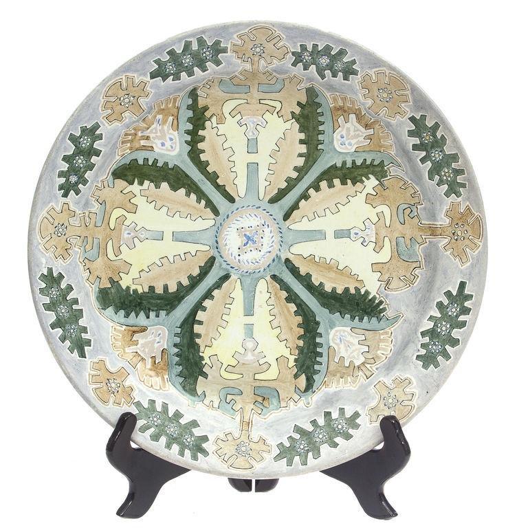 Kuznetsov porcelain plate by Peteris Shteinbergs