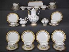 "Meissen porcelain tea / coffee set for 12persons ""X"