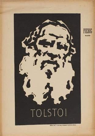 Portrait of Tolstoy; Frederick Fibig (1885-1953)