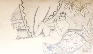 Act drawing by Hilda Vika (1897-1963)