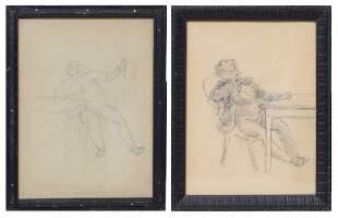 Figural composition by Arturs Baumanis (1867-1904)