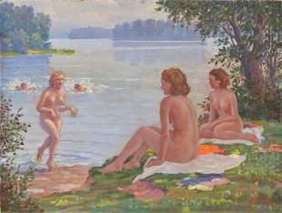 Swimmers; Reinholds Kasparsons (1889-1966)