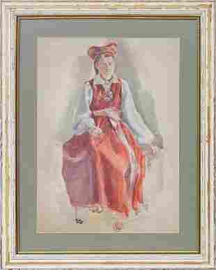 Folk dancer; Bernhards Danenhirss (1894-1942)
