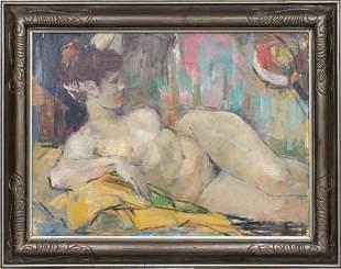 Fauvist act by Aleksandra Belcova (1892-1981)