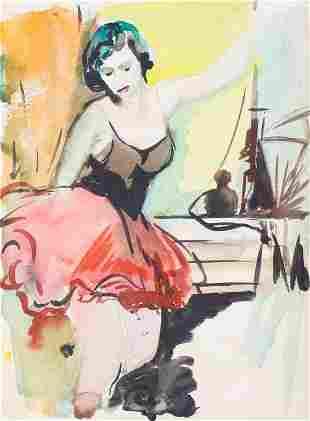 "Drawing ""Ballerina""; Aleksandra Belcova (1892-1981)"