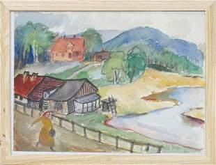 Landscape; Aleksandra Belcova (1892-1981)
