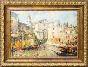 Grand Canal Venice; Ludolfs Liberts (1895-1959)