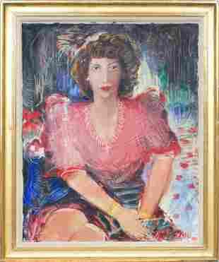 Women portrait; Janis Ferdinands Tidemanis (1897-1964)