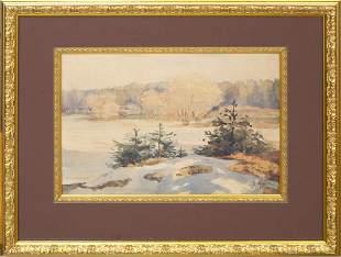 Spring landscape; Eduards Vitols (1877-1954)