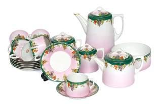 Kuznetsov porcelain tea-coffe set for five persons