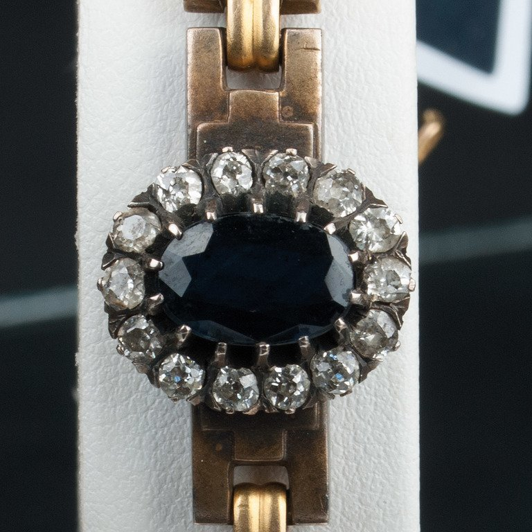 Gold bracelet with diamonds and sapphires - 2