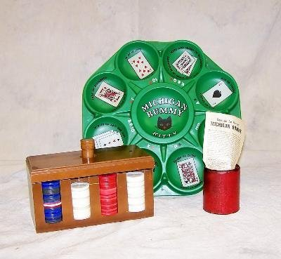 2: The gameof Michign rummy and set of poker chips