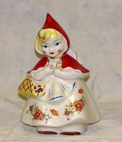 """61: HULL WARE """"LITTLE RED RIDING HOOD"""" COOKIE JAR #967"""
