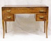 "501: Mid Century burl mahogany vanity measuring 30""h x"