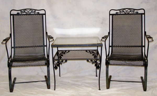 506: Set of Iron outisde furniture circa 1940's include