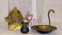 521: Assorted lot of brass Judaica