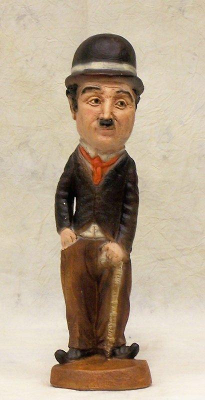 "12: Chalk figure of Charlie Chaplin - 19""h"