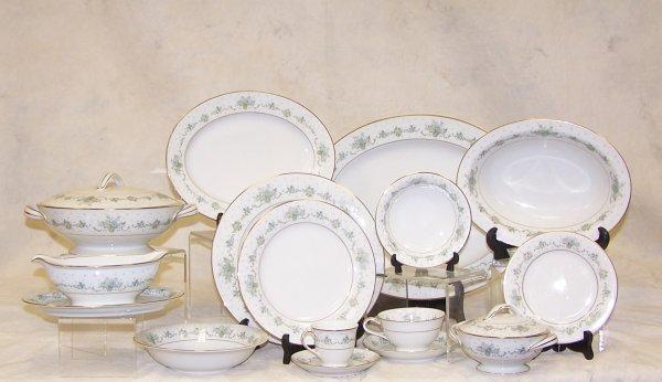 19: Service for twelve, Noritake, fine bone china.  All