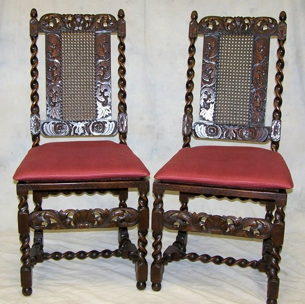 22: Pair of mid 19th. c. Gothic Revival side chairs: me