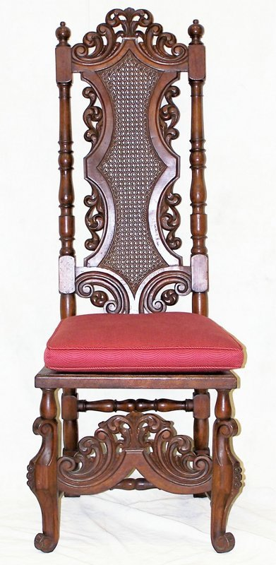 24: Single, mid 19th c. Gothic Revival Bishop's Chair.