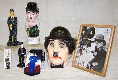 41: Lot of Charlie Chaplin collectibles including music