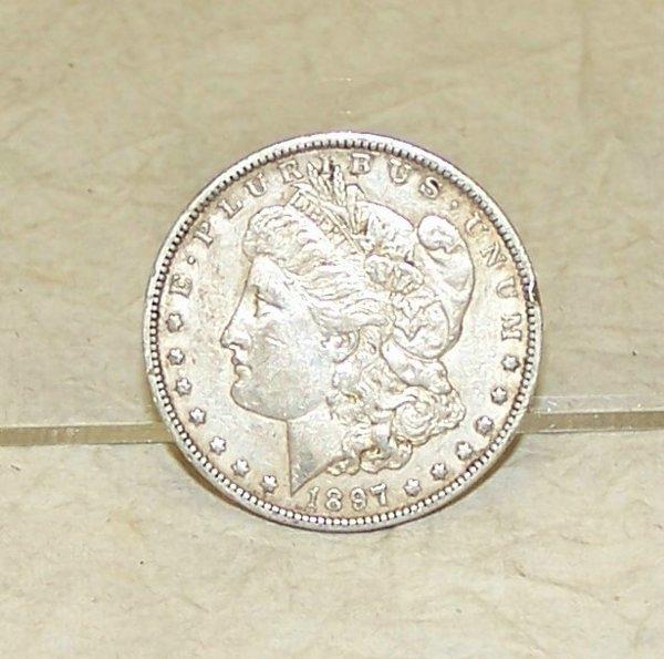 54: 1897O Morgan Silver Dollar - extra fine, New Orlea