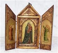 130: Italian wooden tourist icon, circa 1940, with impo