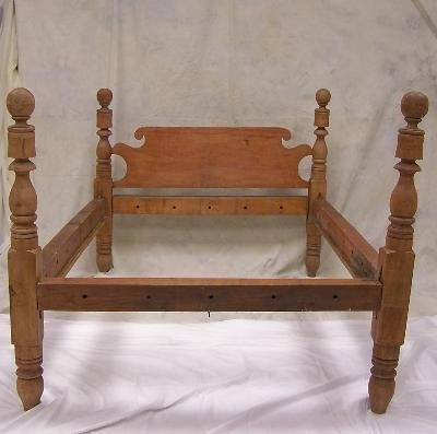 2: 19th c maple colonial rope bed most probably New Eng