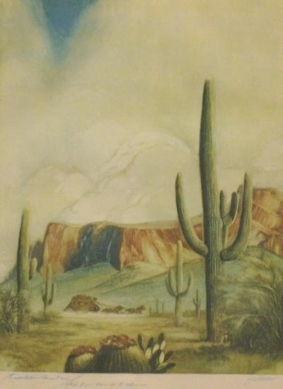 5: COLOR PRINT CIRCA 1930 WESTERN Category: ART