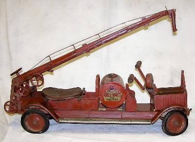 9: A child's riding fire pumper truck made by Keystone