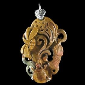 Hand Craved Turtle Pendant