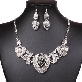 Tibet Tribal Heart Love Pendant Necklace Earring