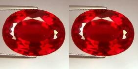 Natural Pigeon Blood Burma Ruby Pair 0.80 Cts