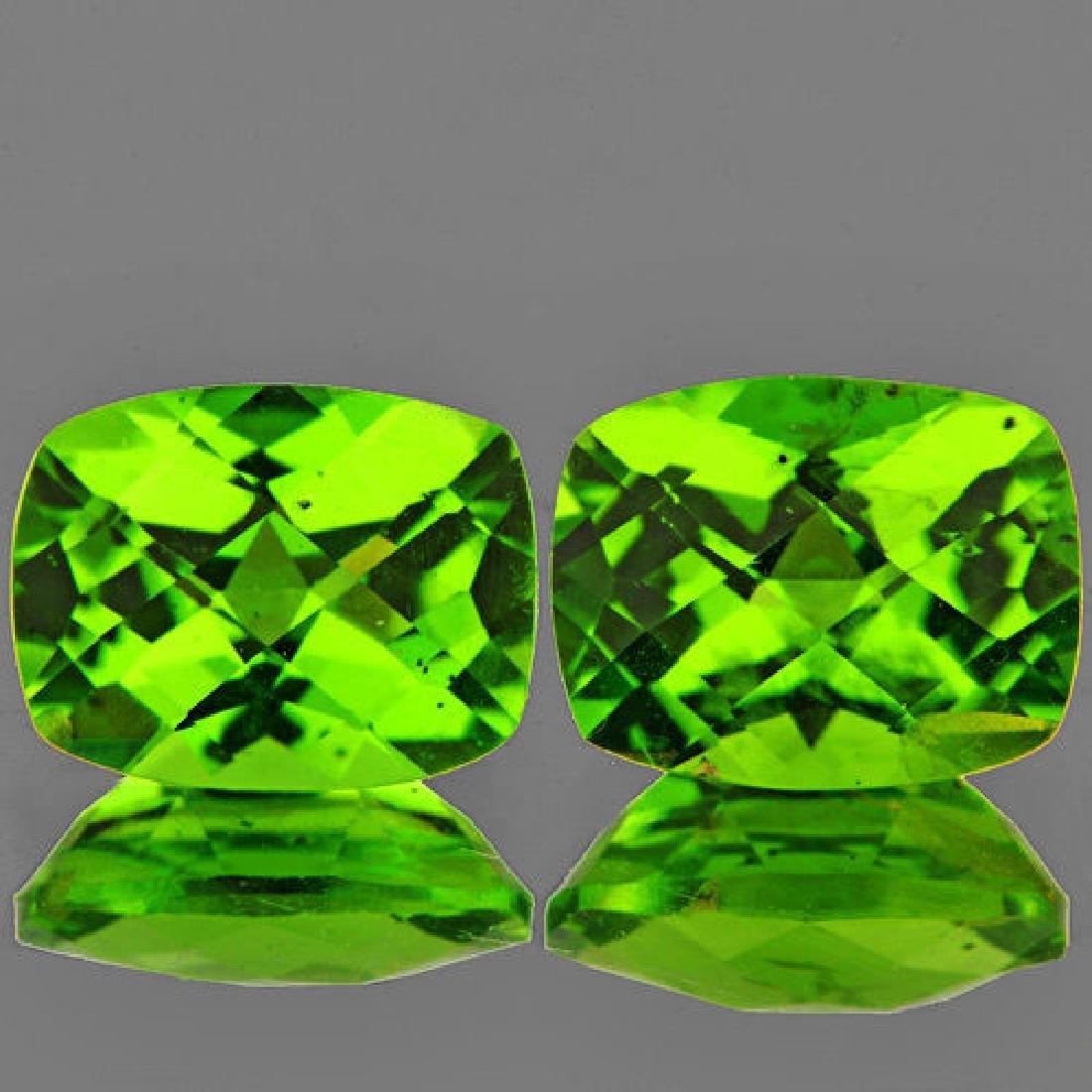 Natural Peridot Pair 4.05 cts - Flawless