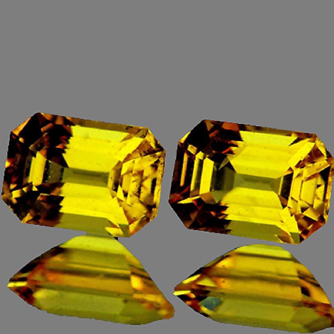 Natural Yellow Sapphire Pair 1.45 cts{Flawless-VVS1}