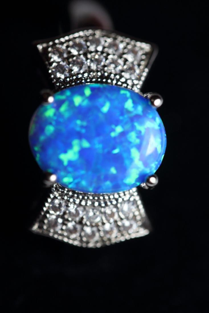Stunning Full Fire Natural Opal Ring