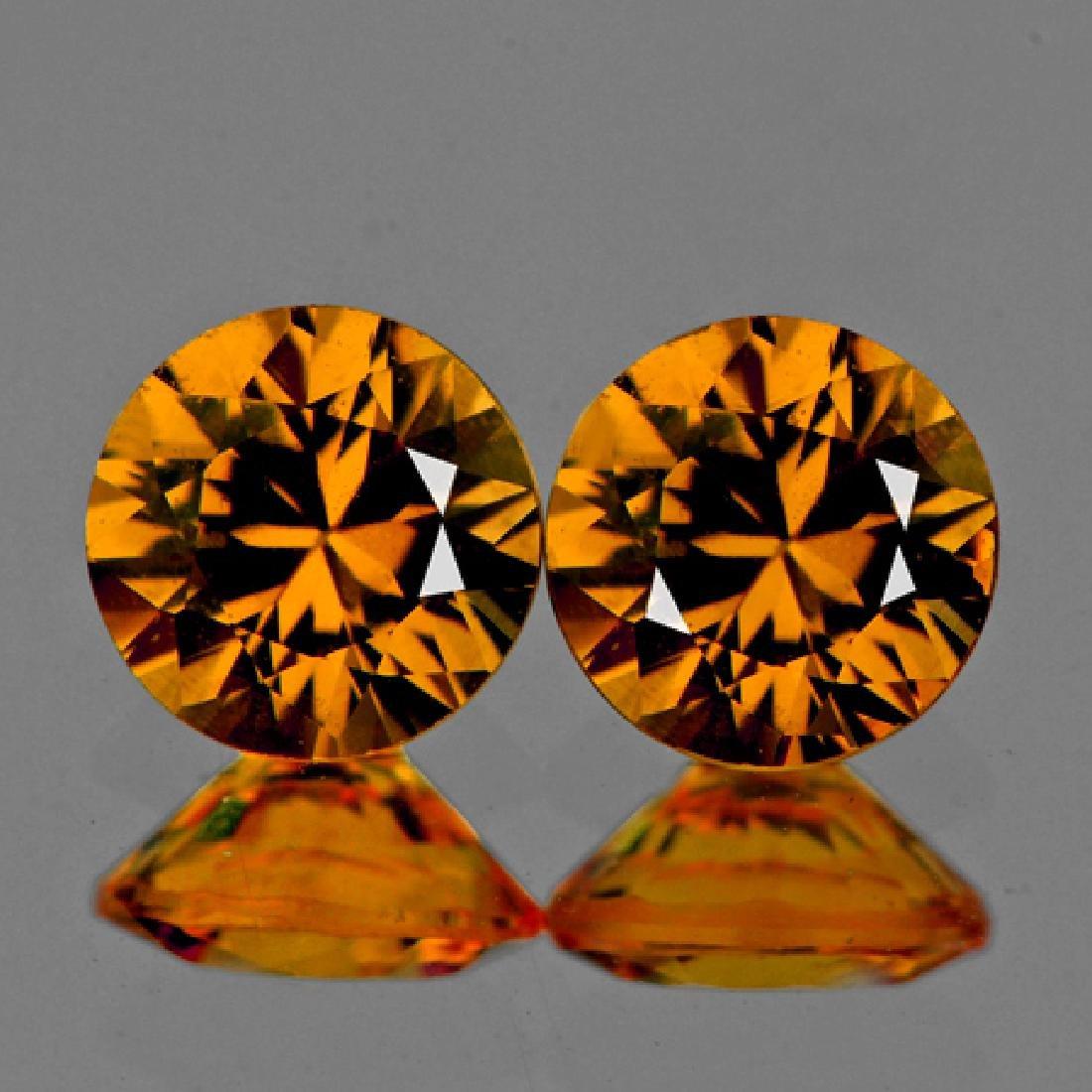 Natural Golden Yellow Sapphire Pair 5.00 MM - VVS