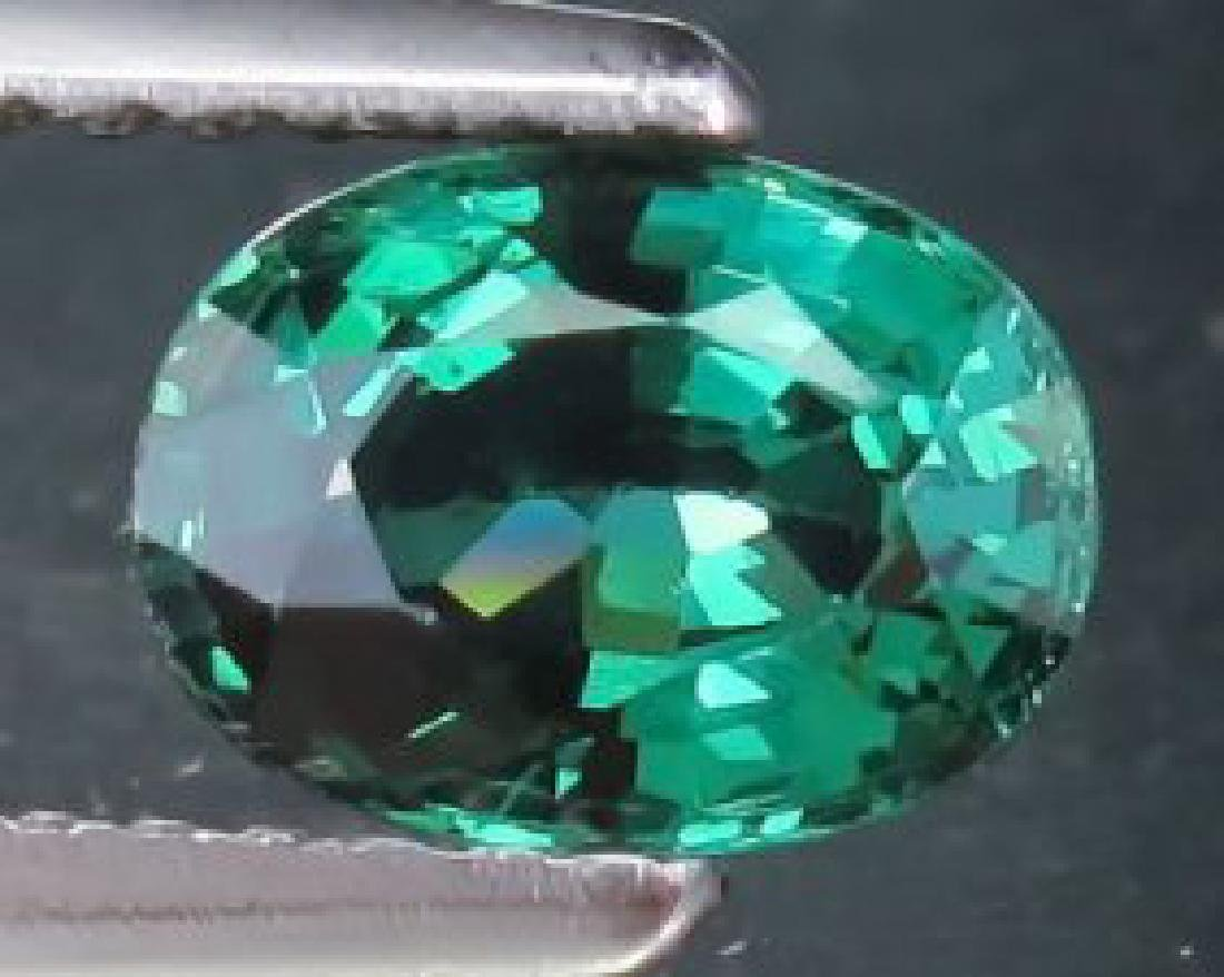 Intense Green Oval Sapphire 1.72 Carats - VS